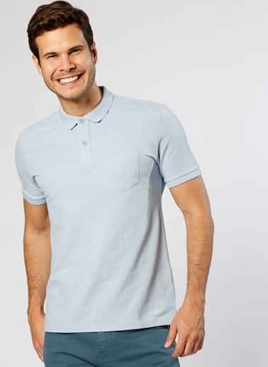 Cotton Bar Polo Yaka Tişört Mavi